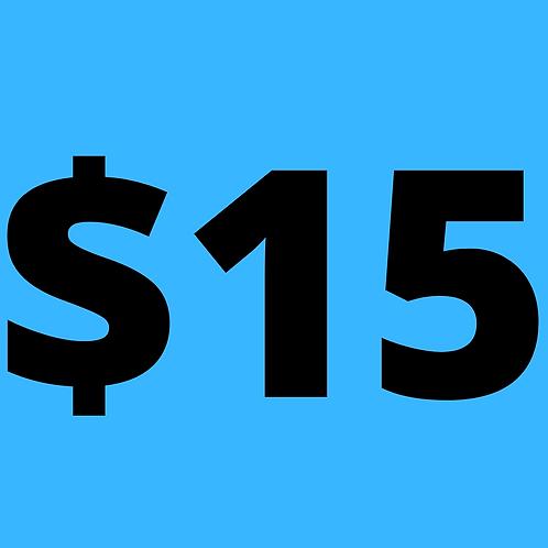 Donate $15