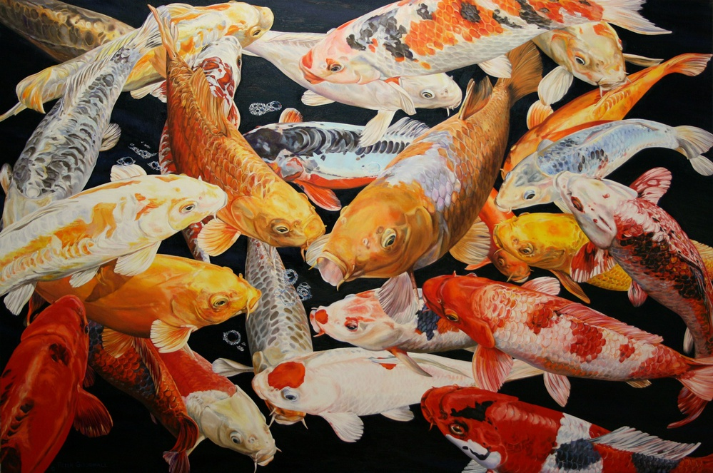 koi anticipation IX de Peter Goodhall