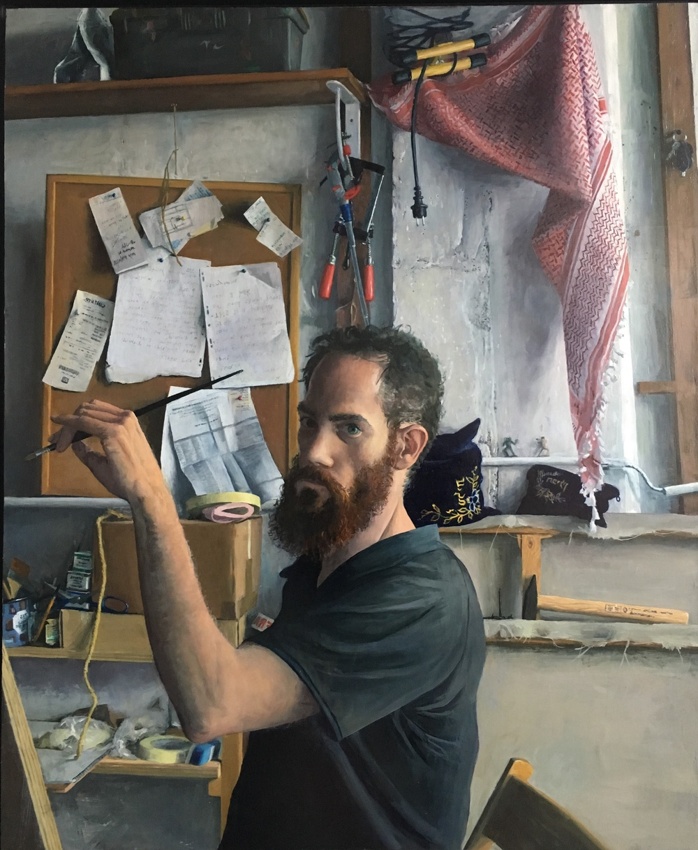 the painter in his studio de Sam Rahamin