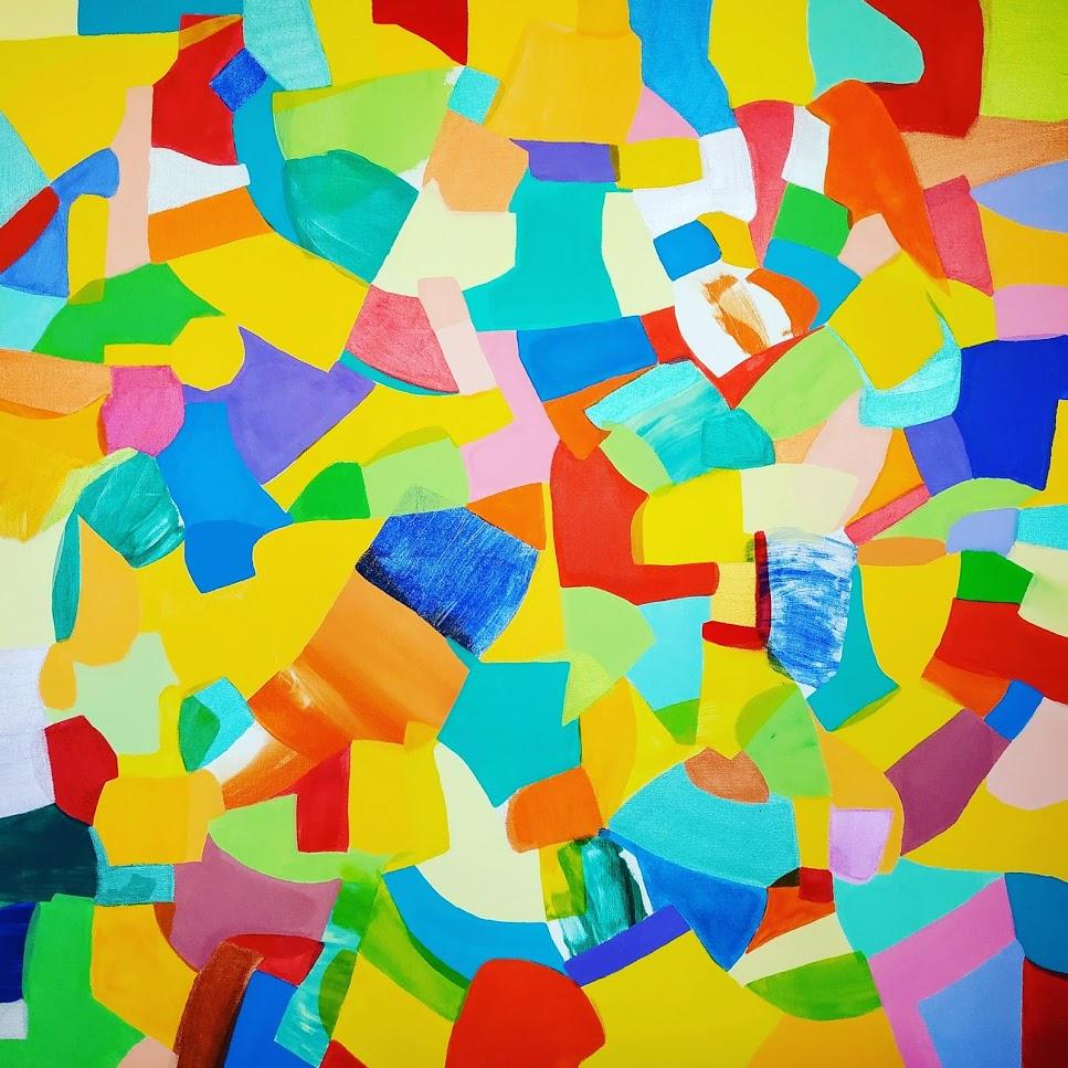 Etoile_colorée_-_70x70cm_-_Mu