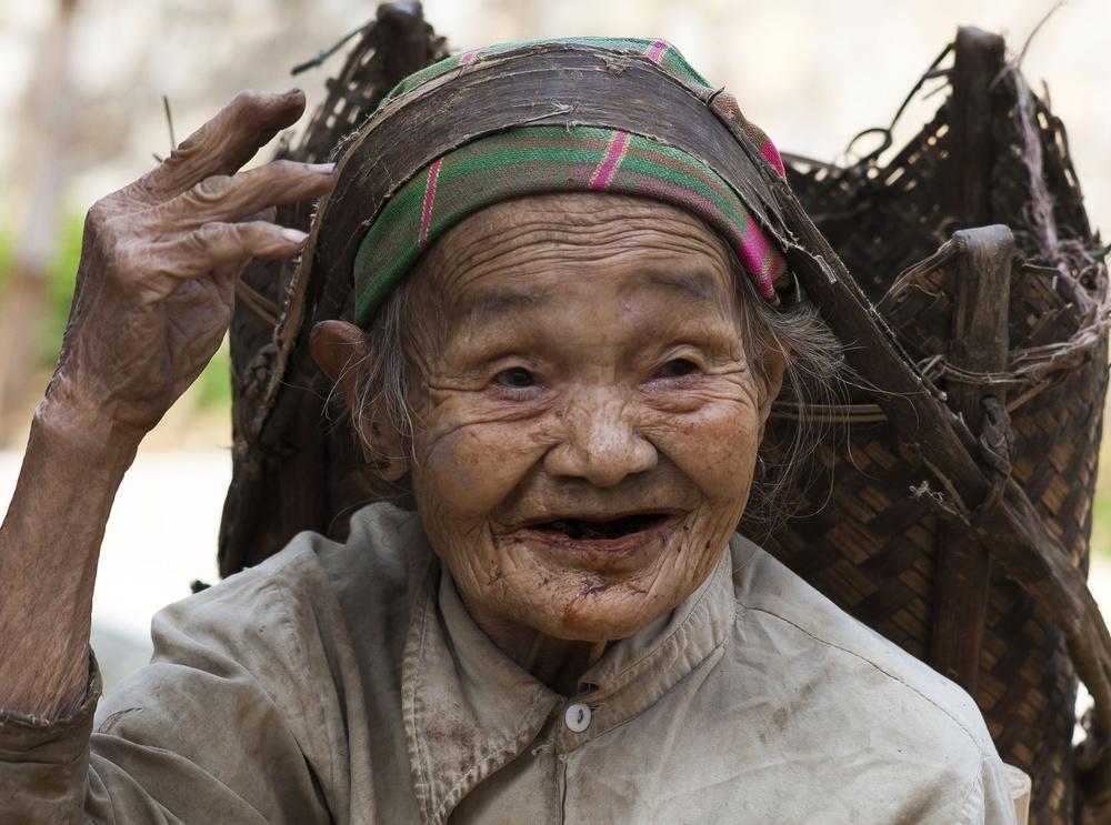 centenaire vietnamienne au labeur de Ala