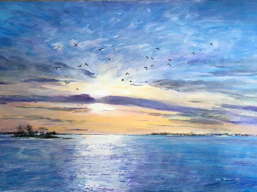 coucher de soleil 2 de Colette Lucchini.