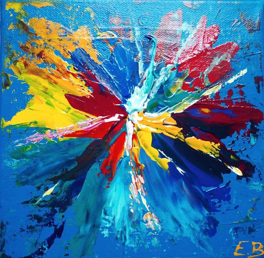 explosion d'acrylique 20x20