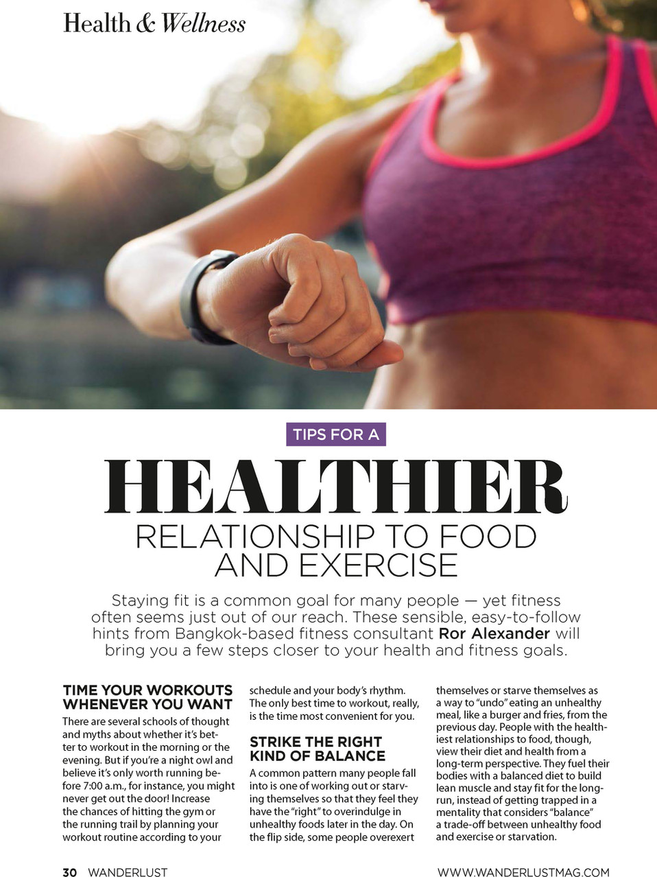 RELATIONSHIP WITH HEALTH