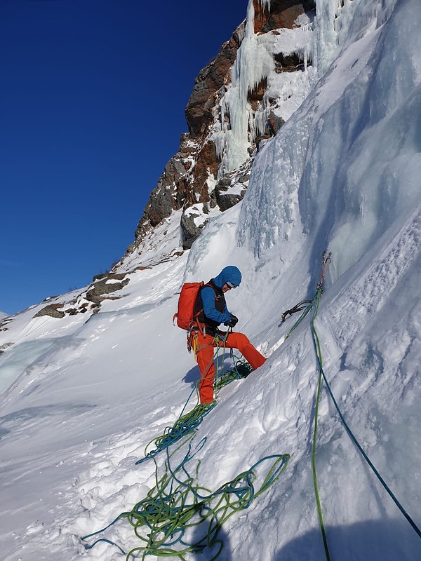 Norway ice climbing