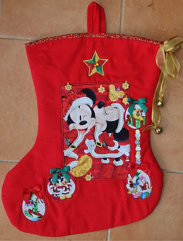 Mickey's Christmas Kiss - Christmas Stocking - Medium
