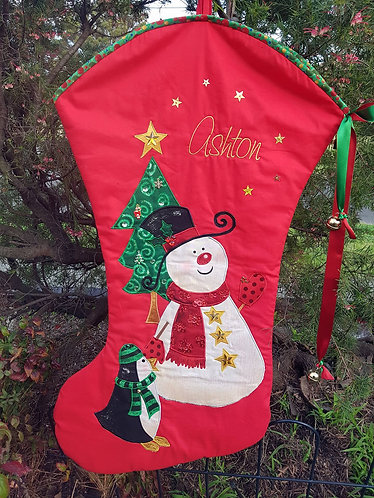 Frosty The Snowman - Christmas Stocking - Large