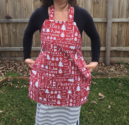 Christmas Words Apron