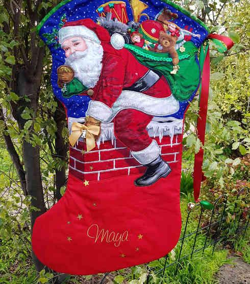 Santa Chimney Large Christmas Stocking