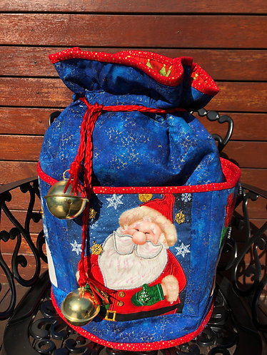 Jingle Bells - Round Standing Sack - Large