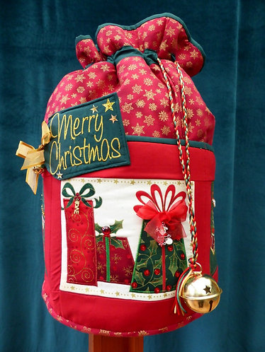 Deck the Halls - Round Standing Sack - Large