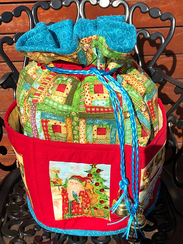 Christmas Joy - Round Standing Sack - Medium
