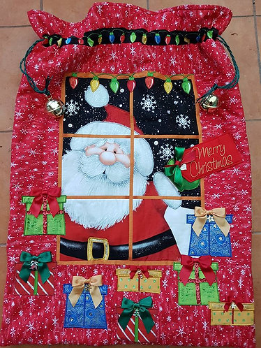 Peeking In - Super Santa Sack