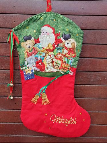 Stocking Full of Toys - Christmas Stocking - Large