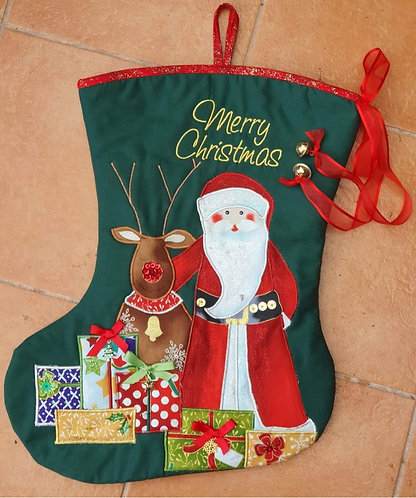 Reindeer Pals - Christmas Stocking - Medium