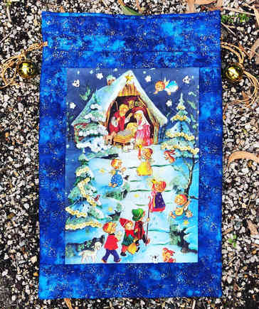 Nativity Santa Sack