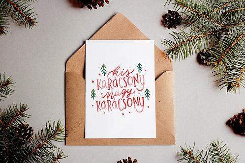 Kis karácsony nagy karácsony képeslap