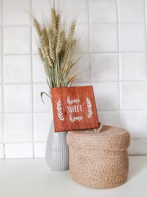 Home sweet home dekoráció
