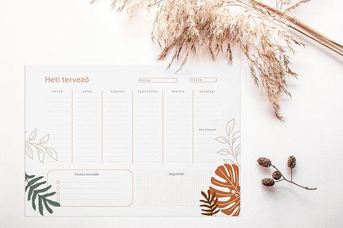 Terrakotta leveles heti tervező