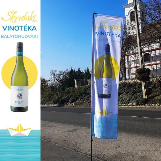 Skrabski Vinotéka megállító zászló