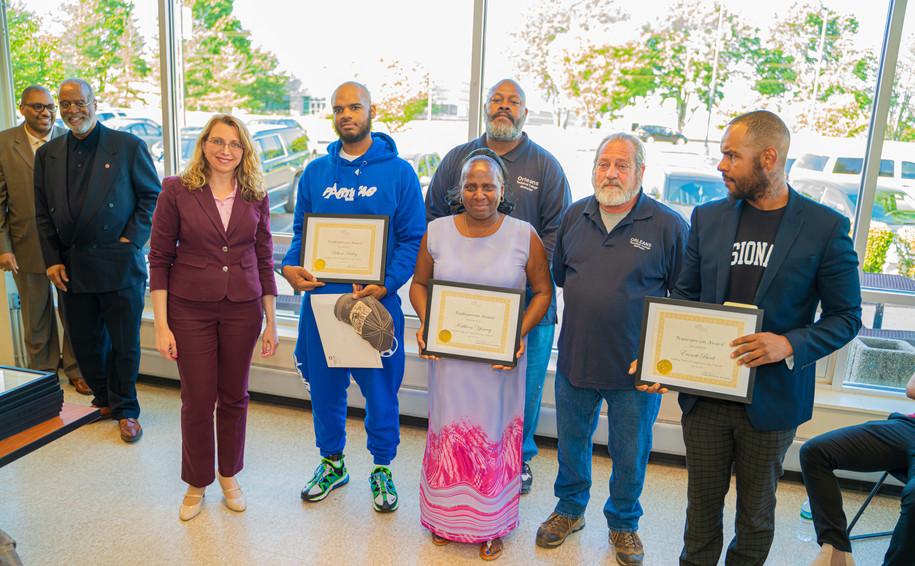 Outstanding Tradesman Awardees