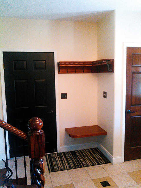 Custom Entryway Shelving