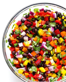 rainbow salsa & chips
