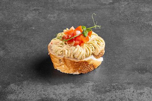 Brötchen mit Frischkäse Avocado-Tomatenaufstrich - 8 Stück