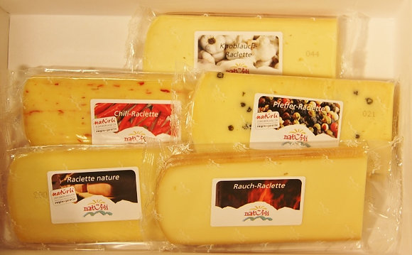 Raclette Käse diverse Sorten in ca. 160g Portionen pro kg