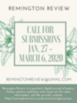 Remington Review Spring 2020 Call for Su