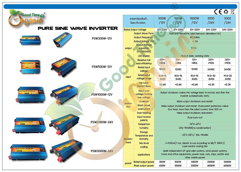 กู๊ด ไทม์ 889 ออร์แกนิค-Pure sine wave inverter