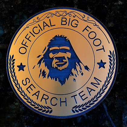 """Bigfoot Fun Plaque """"Official Big Foot Search Team"""" with Stand"""