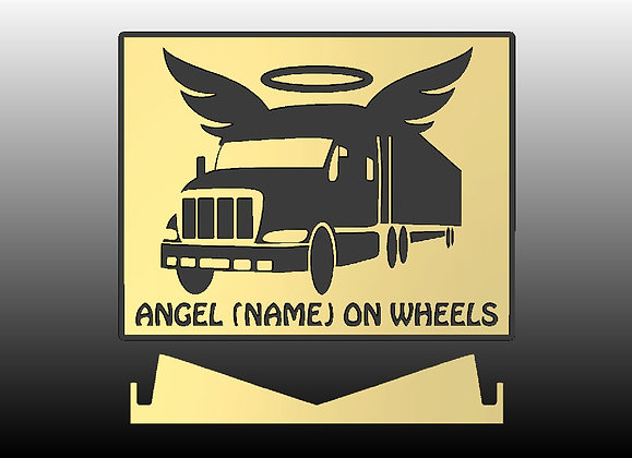 """Personalized """"Angels On Wheels"""" Plaque"""