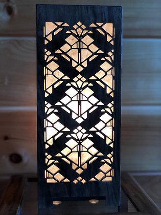 Frank Lloyd Wright Black Walnut Accent Lamp (Design 4)