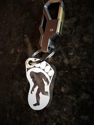 Bigfoot Engraved Acrylic Key Fob