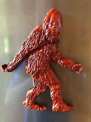 Walking Bigfoot Carved Kitchen Magnet