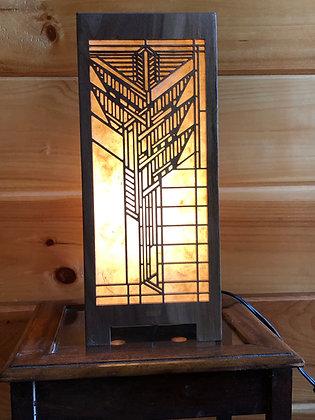 Frank Lloyd Wright Black Walnut Accent Lamp (Design 3)