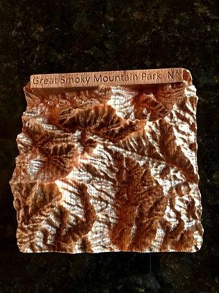 "Western North Carolina ""Mini"" 3D Maps-Oak"