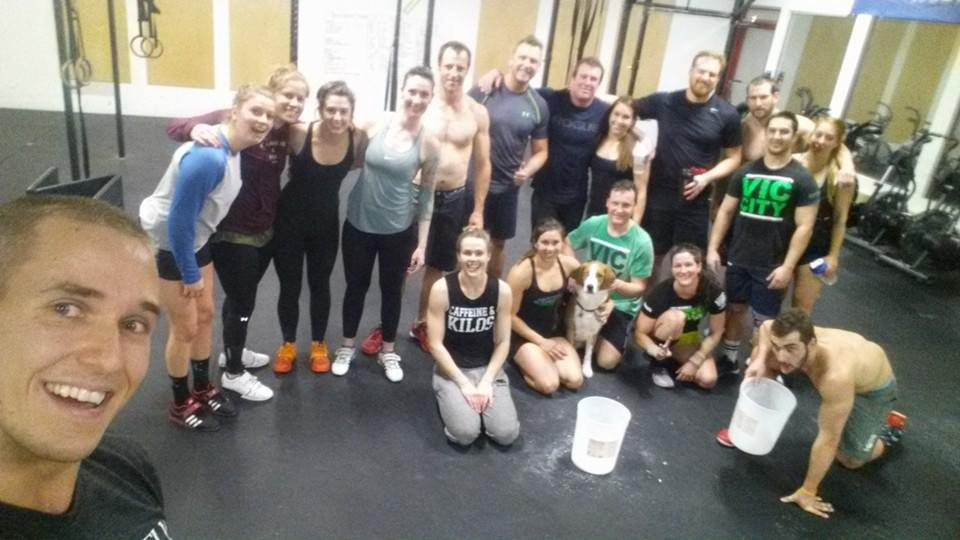 A handful of the crew from 2016's NYE WOD!