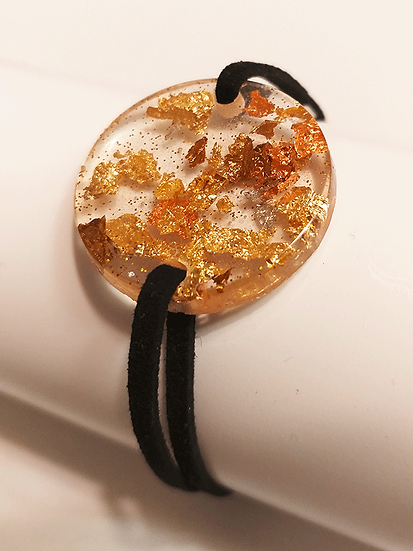 Bracelet large rond plat Or Cuivre Bronze