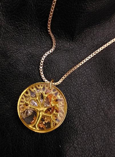 Arbre de Vie antique doré 2 cm