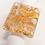 Thumbnail: Bague carrée Or Paillettes 2,4 x 2,8 cm