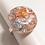 Thumbnail: Bague ronde plate Or Argent Cuivre 2 cm