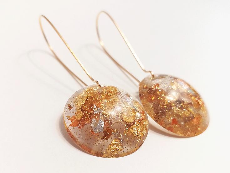 Boucles d'oreilles ronde Or Cuivre Bronze Argent