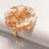 Thumbnail: Bague octogone Or Cuivre Paillettes 2,3 x 2,3 cm
