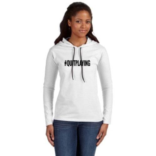 Ladies' Lightweight Long-Sleeve Hooded T-Shirt