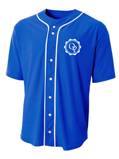 Adult Full Button Baseball Jersey
