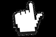 cursor cloque mão