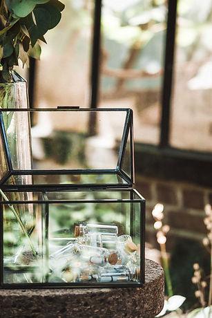 Glas koker herrinnering nazorg overlijden dierbare