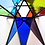 Thumbnail: Moravian Star, Rainbow